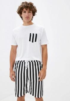 Пижама, Brave Soul, цвет: белый. Артикул: BR019EMKCFM4. Одежда / Домашняя одежда