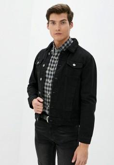 Куртка джинсовая, Brave Soul, цвет: черный. Артикул: BR019EMUMN30. Одежда / Верхняя одежда / Джинсовые куртки