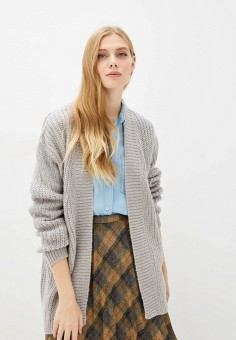 Кардиган, Brave Soul, цвет: серый. Артикул: BR019EWFMIH4. Одежда / Джемперы, свитеры и кардиганы / Кардиганы