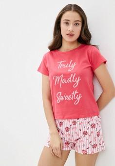 Пижама, Brave Soul, цвет: розовый. Артикул: BR019EWHYHV9. Одежда / Домашняя одежда