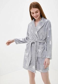 Халат домашний, Brave Soul, цвет: серый. Артикул: BR019EWHYIS2. Одежда / Домашняя одежда / Халаты