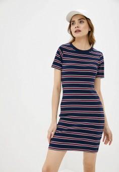 Платье, Brave Soul, цвет: синий. Артикул: BR019EWIXBY9. Одежда / Платья и сарафаны