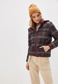 Куртка утепленная, Bruebeck, цвет: красный, черный. Артикул: BR028EWGRZL0. Одежда / Верхняя одежда / Демисезонные куртки