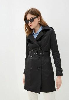 Плащ, B.Style, цвет: черный. Артикул: BS002EWJBOM7. Одежда / Верхняя одежда / Плащи и тренчи