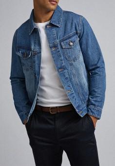 Куртка джинсовая, Burton Menswear London, цвет: голубой. Артикул: BU014EMGNPU5. Одежда / Верхняя одежда / Джинсовые куртки
