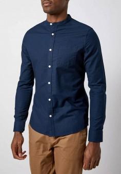 Рубашка, Burton Menswear London, цвет: синий. Артикул: BU014EMIHZE2. Одежда / Рубашки / Рубашки с длинным рукавом