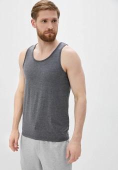 Майка, Burton Menswear London, цвет: серый. Артикул: BU014EMIWBU1. Одежда / Майки