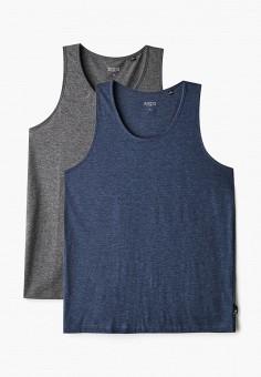 Комплект, Burton Menswear London, цвет: серый, синий. Артикул: BU014EMIZWY2. Одежда / Майки