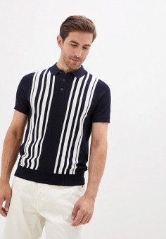 Поло, Burton Menswear London, цвет: синий. Артикул: BU014EMJWZE6. Одежда / Футболки и поло