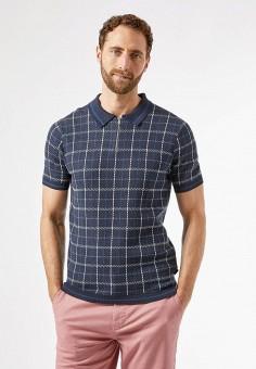 Поло, Burton Menswear London, цвет: синий. Артикул: BU014EMJWZE8. Одежда / Джемперы, свитеры и кардиганы / Джемперы и пуловеры