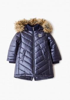 Куртка утепленная, Button Blue, цвет: синий. Артикул: BU019EGFSMK8. Девочкам / Одежда / Верхняя одежда / Куртки и пуховики