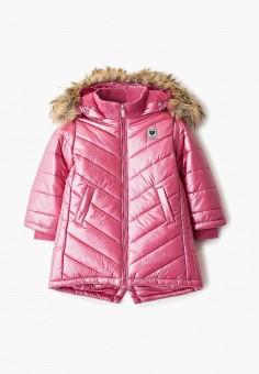 Куртка утепленная, Button Blue, цвет: розовый. Артикул: BU019EGFSMK9. Девочкам / Одежда / Верхняя одежда / Куртки и пуховики