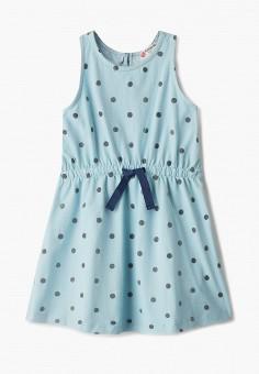 Платье, Button Blue, цвет: голубой. Артикул: BU019EGIFXR2. Девочкам / Одежда / Платья и сарафаны