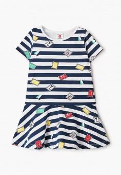 Платье, Button Blue, цвет: синий. Артикул: BU019EGIFXR4. Девочкам / Одежда / Платья и сарафаны