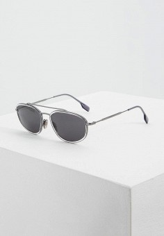 Очки солнцезащитные, Burberry, цвет: серебряный. Артикул: BU034DMEMGX0. Аксессуары