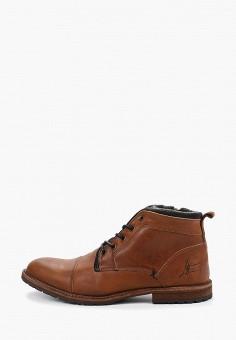 Ботинки, Bullboxer, цвет: коричневый. Артикул: BU470AMGVWF0. Обувь / Ботинки