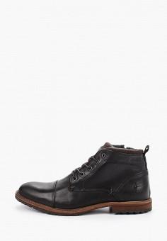 Ботинки, Bullboxer, цвет: черный. Артикул: BU470AMGVWF1. Обувь / Ботинки / Высокие ботинки