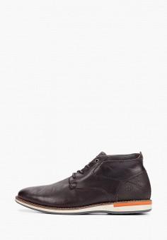Ботинки, Bullboxer, цвет: коричневый. Артикул: BU470AMGVWF8. Обувь / Ботинки / Низкие ботинки