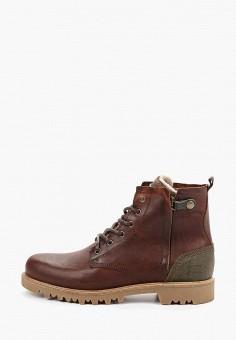 Ботинки, Bullboxer, цвет: коричневый. Артикул: BU470AMGVWT2. Обувь / Ботинки / Высокие ботинки