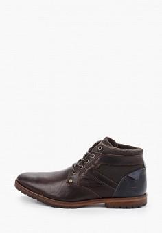 Ботинки, Bullboxer, цвет: коричневый. Артикул: BU470AMGVWT5. Обувь / Ботинки
