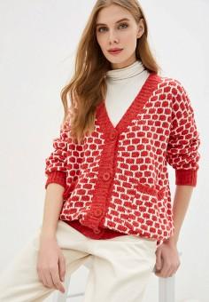 Кардиган, By Swan, цвет: красный. Артикул: BY004EWHKSI8. Одежда / Джемперы, свитеры и кардиганы / Кардиганы
