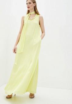 Платье, Cavalli Class, цвет: желтый. Артикул: CA078EWIAKX1. Одежда / Платья и сарафаны / Вечерние платья