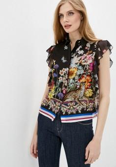Блуза, Cavalli Class, цвет: черный. Артикул: CA078EWIAKZ2. Одежда / Блузы и рубашки