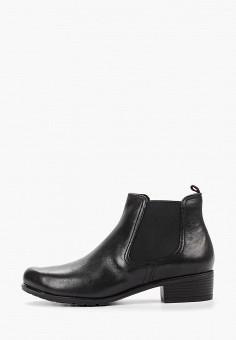 Ботинки, Caprice, цвет: черный. Артикул: CA107AWCEL91. Обувь / Ботинки / Челси