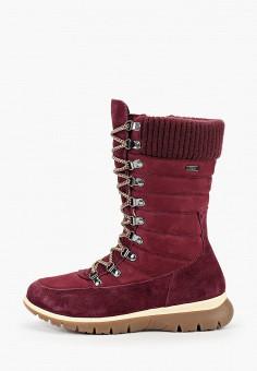 Дутики, Caprice, цвет: бордовый. Артикул: CA107AWFNYO2. Обувь / Сапоги / Дутики