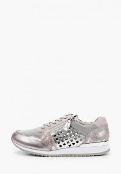 Кроссовки, Caprice, цвет: серый. Артикул: CA107AWIACV5. Обувь / Обувь с увеличенной полнотой
