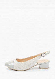 Туфли, Caprice, цвет: серый. Артикул: CA107AWIACX6. Обувь / Обувь с увеличенной полнотой
