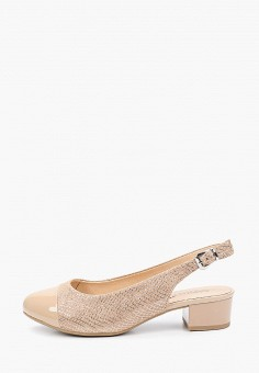 Туфли, Caprice, цвет: бежевый. Артикул: CA107AWIACX7. Обувь / Обувь с увеличенной полнотой