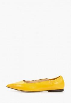 Балетки, Caprice, цвет: желтый. Артикул: CA107AWIADE1. Обувь / Балетки