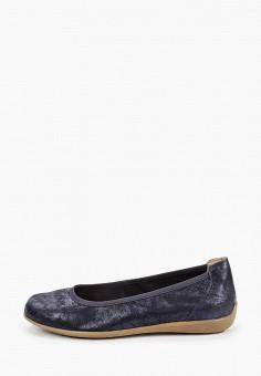 Балетки, Caprice, цвет: синий. Артикул: CA107AWIADF4. Обувь / Обувь с увеличенной полнотой