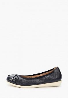 Балетки, Caprice, цвет: синий. Артикул: CA107AWIADF8. Обувь / Обувь с увеличенной полнотой