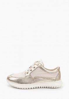 Кроссовки, Caprice, цвет: золотой. Артикул: CA107AWIADI2. Обувь / Обувь с увеличенной полнотой
