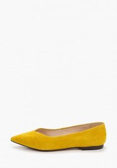 Балетки, Caprice, цвет: желтый. Артикул: CA107AWIADI8. Обувь / Балетки