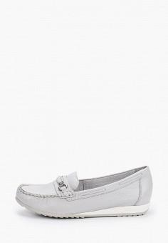 Мокасины, Caprice, цвет: серый. Артикул: CA107AWIADJ8. Обувь / Мокасины и топсайдеры