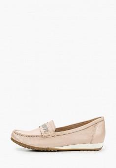 Мокасины, Caprice, цвет: розовый. Артикул: CA107AWIADK0. Обувь / Мокасины и топсайдеры