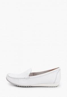 Мокасины, Caprice, цвет: белый. Артикул: CA107AWIADK2. Обувь / Мокасины и топсайдеры