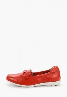 Мокасины, Caprice, цвет: красный. Артикул: CA107AWIADL5. Обувь / Мокасины и топсайдеры