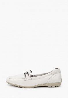Лоферы, Caprice, цвет: белый. Артикул: CA107AWIADL8. Обувь / Туфли / Лоферы