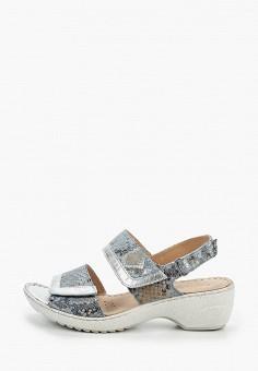 Босоножки, Caprice, цвет: голубой. Артикул: CA107AWIADQ2. Обувь / Обувь с увеличенной полнотой