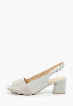 Босоножки, Caprice, цвет: серый. Артикул: CA107AWIADQ9. Обувь / Обувь с увеличенной полнотой
