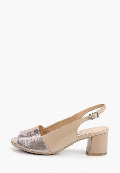 Босоножки, Caprice, цвет: бежевый. Артикул: CA107AWIADR0. Обувь / Обувь с увеличенной полнотой