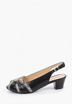Босоножки, Caprice, цвет: черный. Артикул: CA107AWIADZ2. Обувь / Обувь с увеличенной полнотой