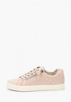 Кеды, Caprice, цвет: розовый. Артикул: CA107AWIAEA6. Обувь / Обувь с увеличенной полнотой