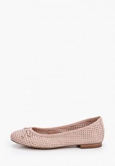 Балетки, Caprice, цвет: розовый. Артикул: CA107AWIAED1. Обувь / Балетки