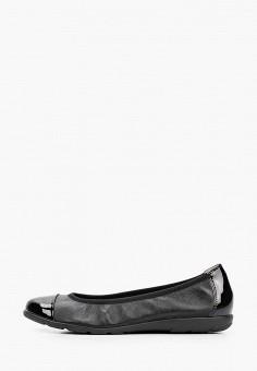 Балетки, Caprice, цвет: черный. Артикул: CA107AWIAED6. Обувь / Балетки