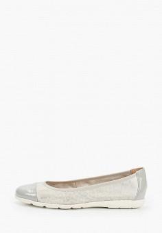 Балетки, Caprice, цвет: серый. Артикул: CA107AWIAED7. Обувь / Балетки
